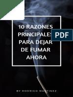 10 Razones Principales Para Dejar de Fumar Ahora