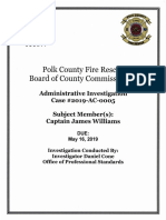 Polk Co. releases administrative investigation into former Fire Captain James Williams