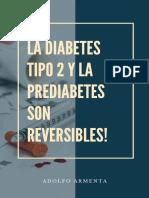 La Diabetes Tipo 2 y La Prediabetes Son Reversibles.