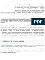 Consecuencias de La Union de La Republica de Colombia