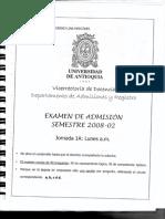 Examen Admisión Udea 1