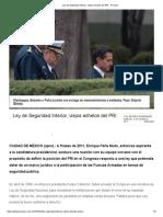 [2017 12 06] Ley de Seguridad Interior, Viejos Anhelos Del PRI (Proceso)