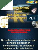 INFORMACIÓN SOBRE EL EXAMEN DE TEÓRICO PARA CONDUCTORES.ppt