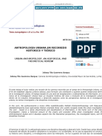 Revista Textos Antropológicos - ANTROPOLOGÍA URBANA. UN RECORRIDO HISTÓRICO Y TEÓRICO