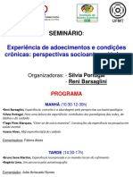 Seminario Experiencia de adoecimentos cronicos CES-UC