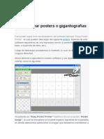 Cómo Crear Posters o Gigantografías