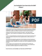 Avaliação Com Exercícios de MAT Pilates