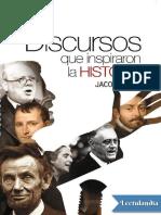 Discursos Que Inspiraron La Historia - Jacob F Field