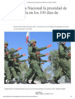 [2019 03 11] Guardia Nacional La Prioridad de Coahuila en Los 100 Días de AMLO (Milenio)