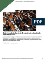 [2019 03 14] Emite Senado Declaratoria de Constitucionalidad de La Guardia Nacional (El Universal)