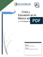 crisis y educación en el mexico actual.