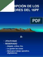 Descripción factores 16PF.PPT