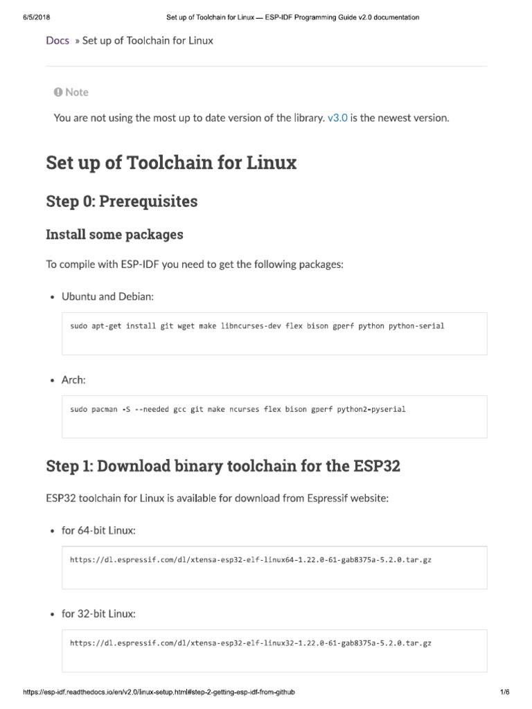 ESP32 setup pdf