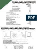 CUMMINS L10 - LT10 - LTA 10 (Varias Aplicaciones)