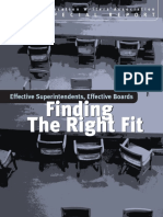 Effective Superintendents Effective Boards Finding the Right Fit
