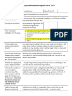 alexza lavonzell johnson - cunningham senior capstone product proposal  1