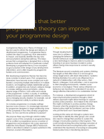 2018_Three Ways That Better Programme Theory Can Improve Your Programme Design