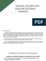 Evaluacion Del Peligro Por Inundacion en Zonas Urbanas