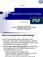 Lecture 2 (Approaches to Systems Design)
