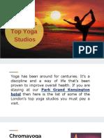 London's Top Yoga Studios
