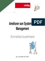 Améliorer Son Système de Management