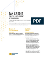 E-business Tax Credit Gist