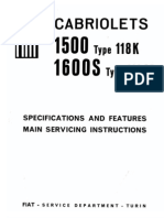 Fiat O.S.C.A. 1500S/1600S Service Manual (Part 1)
