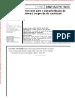 ISO_TR10013 - Diretrizes Para a Documentação de SG