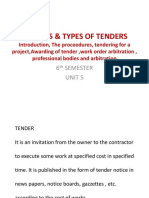 Tenders & Types of Tenders
