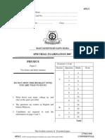 SPM Percubaan 2007 MRSM Physics Paper 2