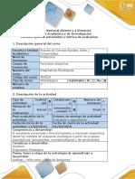 Guía de actividades y rúbrica de evaluación - Paso 3 -Enfoque de Aplicación al Problema