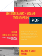 Limestone Pavers – Size and Texture Options