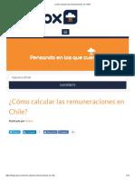 Remuneraciones en Chile