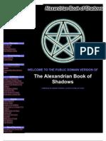 Alexandrian Book of Shadows 0595128459