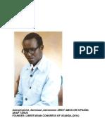 Libertarian Congress of Uganda Constitution