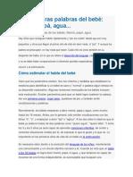 Tabla del desarrollo del Lenguaje