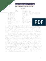 2016-I Syllabus Ing Civil Ordenamiento Territorial Jose Sanjurjo