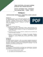 Reglamento Interno CEM - 2011