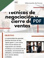 Curso Técnicas de Negociación y Cierre de Ventas