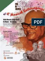 K. Sri Dhammananda - Tribute to Our Teachers - Concert Booklet