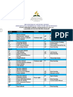 Calendar of Events 2019