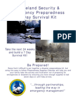 (FEMA.emergency. Disaster. Preparedness.survival.) 7 Day Supply Calendar