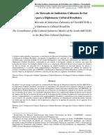 A Contribuição do Mercado de Indústrias Culturais do Sul (MICSUL) para a Diplomacia Cultural Brasileira