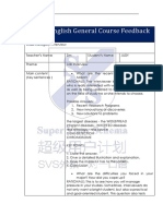 Judy (March 14, 2019) General Course Feedback Form