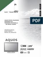 Sharp LC-42F62U Owner Manual