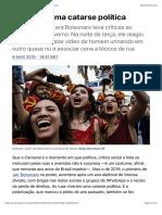 Carnaval, uma catarse política | Cultura | EL PAÍS Brasil