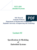 Lecture_ Specifications & Modeling of Embedded Systems