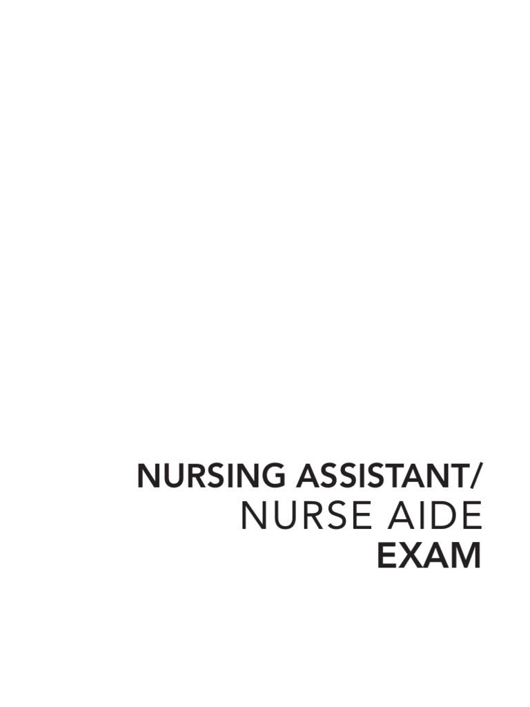 Nursing Aid Exam Nursing Home Care Nursing