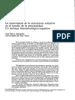 Zumalabe, José María (La importancia de la experiencia subjetiva en el estudio de la personalidad. Un enfoque fenomenológico-cognitivo ).pdf