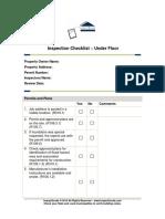 Inspection Checklist 2_Under Floor